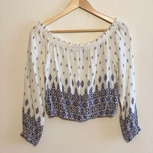 H&M Off The Shoulder Cropped Blouse